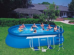 oval frame pool 610x366x122 intex 57982 baby. Black Bedroom Furniture Sets. Home Design Ideas