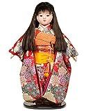 【ひな人形】【市松人形】市松人形10号市松人形:京染牡丹に梅柄衣装:翠華作【浮世人形】【木目込市松人形】