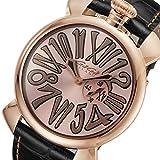 ガガ ミラノ マニュアーレ スリム 46mm クオーツ メンズ 腕時計 50852-NEW ローズ