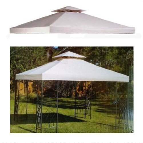 10 x 10 replacement gazebo canopy beige top cover patio