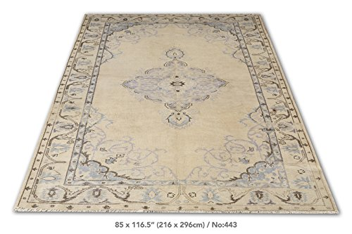 7 X 9.7 Feet Antique Washed and Natural Distressed Rug
