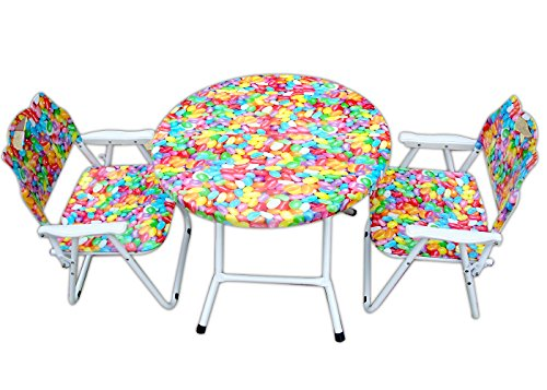 """Amaze"" Folding Baby kids children printed portable outdoor study dining furniture play group Table-Chair Set-Baloons"