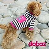ドッグウェア!DOBAZ(ドバズ)犬用ポケット付ストライプトレーナーピンク犬用