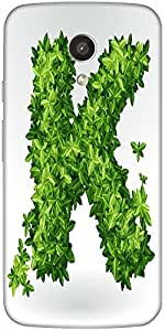 Snoogg Green Leaves Summer Vector Alphabet Designer Protective Back Case Cove...