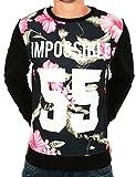 Sweat noir imprimé fleurs Rose IMPOSSIBLE 55 de la marque CELEBRY TEES (M)...