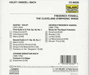 Holst: Suite No.1 & 2 / Handel: Music for the Royal Fireworks / Bach: Fantasia in G