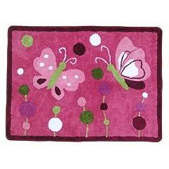 Lambs & Ivy Raspberry Swirl Rug