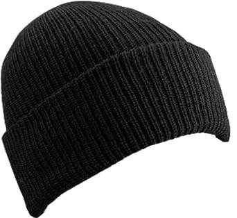 WIGWAM MILLS INC F4707-052-OS WORSTED WOOL WATCH CAP - BLACK