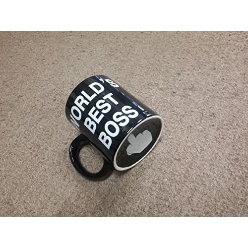 Airblasters World's Best Boss - Finger On Bottom Mug,Coffee Mugs /Coffee Cups for Coffee ,Tea ,Water ,Great for Home Cups,Office Mugs,11-Ounce, Black by Airblasters [並行輸入品]