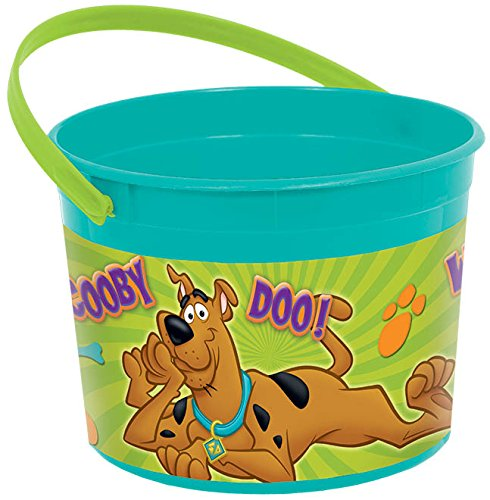 "Amscan Awesome Scooby-Doo Favor Container Birthday Party Favor, 4-1/2 x 6-1/4"", Teal/Purple/Green"