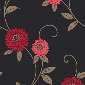 Zara floral motif coral wallpaper arthouse for Arthouse jardin wallpaper