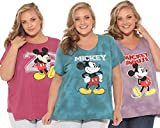Disney Mickey Mouse Women's Plus Size Distressed T-Shirt