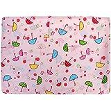 Magideal Cute Baby Kids 100% Silk Satin Double-sided Pillowcase 30*45cm Umbrella Pink