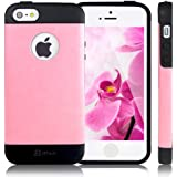 JETech® Luxury iPhone 5 Case Cover Ultra Fit Bumper for Apple iPhone 5 5S (TPU-Pink)