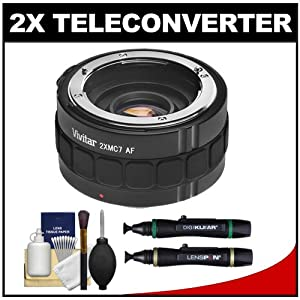 Vivitar Series 1 2x Teleconverter (7 Elements) Kit + Lenspens + Cleaning Kit for Nikon AF & AF-S Lenses & Digital SLR Cameras