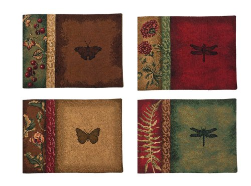 Manual Woodworkers & Weavers Placemat, Set of 4, Flora and Fauna