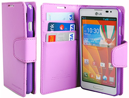 [Pastel Purple] Premium Leather Diary Case - Premium Smooth PU Leather Case For LG Optimus F7 US780 LG870 T-Mobile (Lg Optimus F7 Cases compare prices)