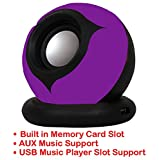 Portable Mini Speaker Supports With Memory Card/USB/AUX Function Compatible For Alcatel One Touch Pop 2 (5) Dual-SIM-PURPLE