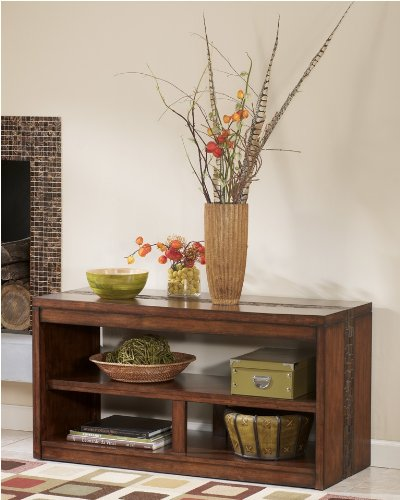 Cheap Rustic Medium Brown Brockland Sofa Console Table (T675-4)