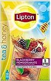 Lipton Tea & Honey To-Go Packets, Blackberry Pomegranate Iced Green Tea 10 ct (Pack of 6)
