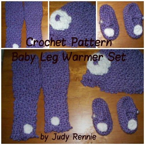 Judy Rennie - Crochet Pattern Baby Leg Warmer Set