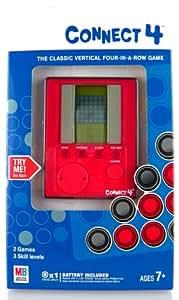 connect 4 elektronische spiel vier gewinnt handheld konsole spielzeug. Black Bedroom Furniture Sets. Home Design Ideas