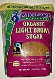 Wholesome Sweeteners Organic Light Brown Sugar - 6 lb Bag (96 oz)
