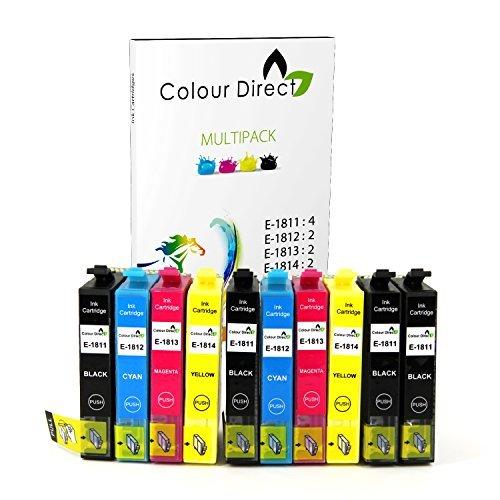 Colour Direct 10 XL Compatibile Cartucce d'inchiostro Sostituzione Per Epson Expression Home XP-102,XP-202,XP-205,XP-30,XP-305,XP-405WH XP-405,XP-212,XP-215,XP-225,XP-312,XP-315,XP-322,XP-325,XP-412,XP-415,XP-422,XP-425 Stampante 4 Nero 2 Ciano 2 Magenta 2 Giallo