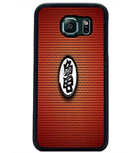 PrintDhaba Red Pattern D-1560 Back Case Cover for SAMSUNG GALAXY S6 EDGE (Multi-Coloured)