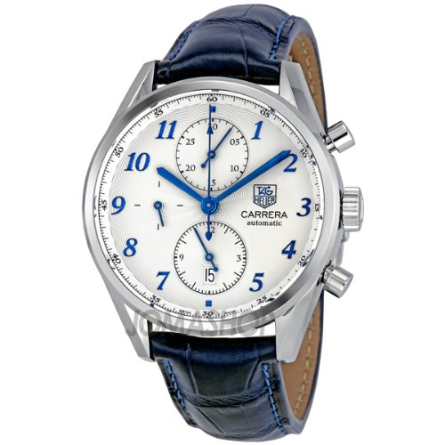 Tag Heuer Men's CAS2111.FC6292 Carrera Heritage Silver Dial Dress Watch