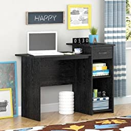 Mainstays Student Desk Adjustable Shelf, (Black Ebony Ash)