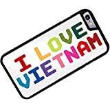 Rubber Case for iPhone 6 Plus I Love Vietnam ,Colorful - Neonblond