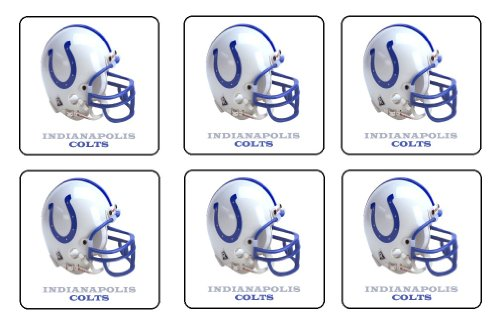 Indianapolis Colts Coaster Set of 6 NFL Football Mini Mousepads at Amazon.com