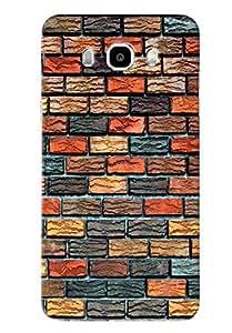 Blue Throat Different Color Bricks Pattern Printed Designer Back Cover For Samsung Galaxy J7