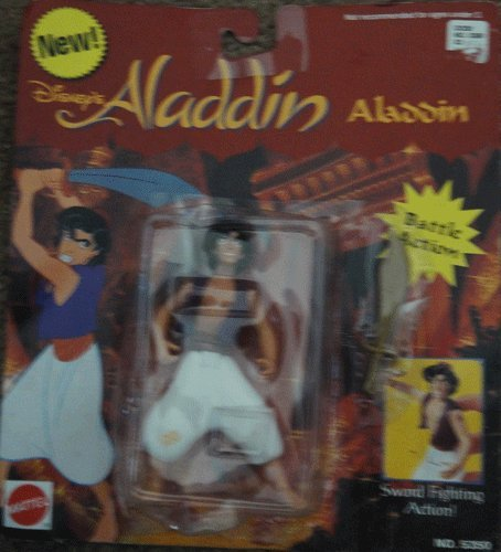 Picture of Mattel Disney's Aladdin - Action Figure w/ Sword Fighting Action (B000OWP2SY) (Mattel Action Figures)