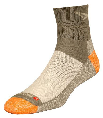 Drymax Drymax Trail Run 1/4 Crew High Socks, Grey/Orange, Large