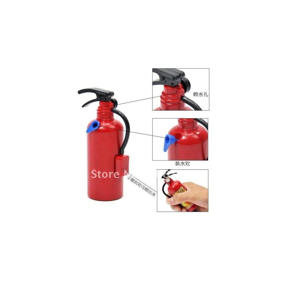 fashion fire extinguisher modelling water spray