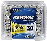 Rayovac Alkaline AA Batteries, 30-Pac...