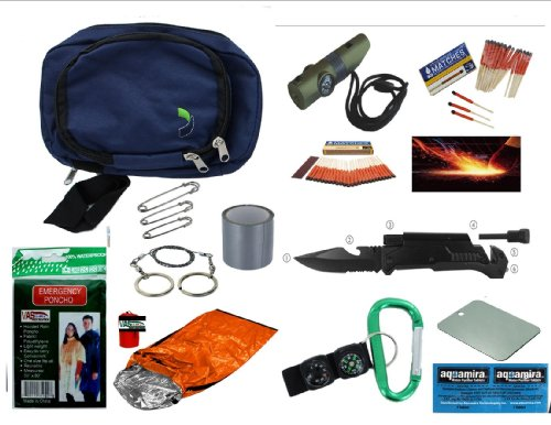"Vas Mergency Survival Essentials Pack #284 12 Pc Pack - Survival, Bug Out & Disaster With ""Mini Bob"", Survival Bivy, Fire Starter, Flashlights, Uco Stormproof Matches & More"