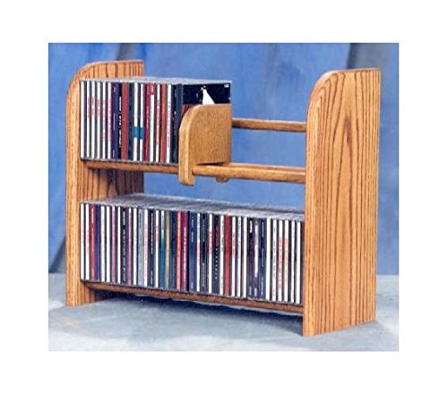 2 Row Dowel CD Rack (Honey Oak) (Wood Dowel Rack compare prices)