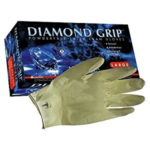Microflex Diamond Grip Latex Gloves, Microflex MF-300-S Small FREE