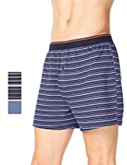 3 Pack Authentic Pure Cotton Assorted Marl Boxers