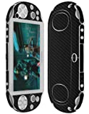 Skinomi® TechSkin - Sony PS Vita PCH-2000 Game Console Screen Protector + Carbon Fiber Black Full Body Skin Protector / Front & Back Premium HD Clear Film / Ultra High Definition Invisible and Anti Bubble Crystal Shield with Free Lifetime Replacement Warranty - Retail Packaging