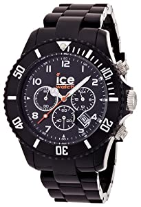 Ice-Watch Herren - Armbanduhr Chrono Analog Quarz Kunststoff CH.BK.B.P.09