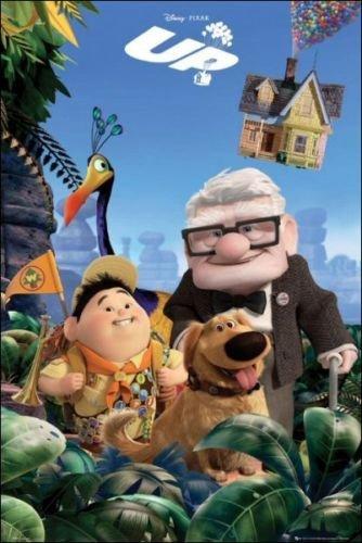 Up Poster Disney Pixar Cast Shot