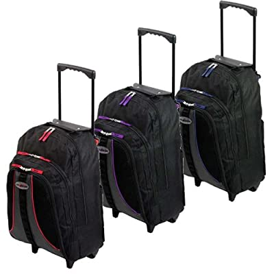 More4bagz Cabin Approved Wheeled Travel Backpack Rucksack Hand Luggage Holdall Flight Bag Trolley Case