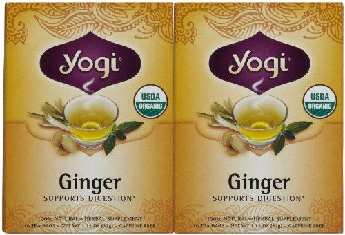 Yogi Tea Herbal Teas Ginger Certified Organic 16 Tea Bags (A)