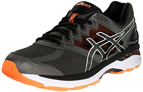 ASICS Men's GT 2000 4 Running Shoe, Carbon/Black/Hot Orange, 11 M US (Asics Mens Running Shoes compare prices)