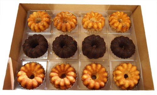 Coffee Cake, Double Chocolate, Vanilla Assorted Mini Maddi Cakes 2.8 Oz.