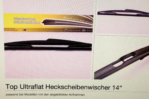 """Type   Ultraflat Heckscheibenwischer 14"""" Fiat Stilo Multi Wagon + Fiat Ulysse"""